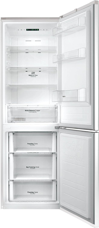 Frigor/ífico , SN-T, 9 kg//24h, A++, Blanco nevera 318 L, Antiescarcha LG GBB59SWJZS nevera y congelador Independiente Blanco 318 L A++