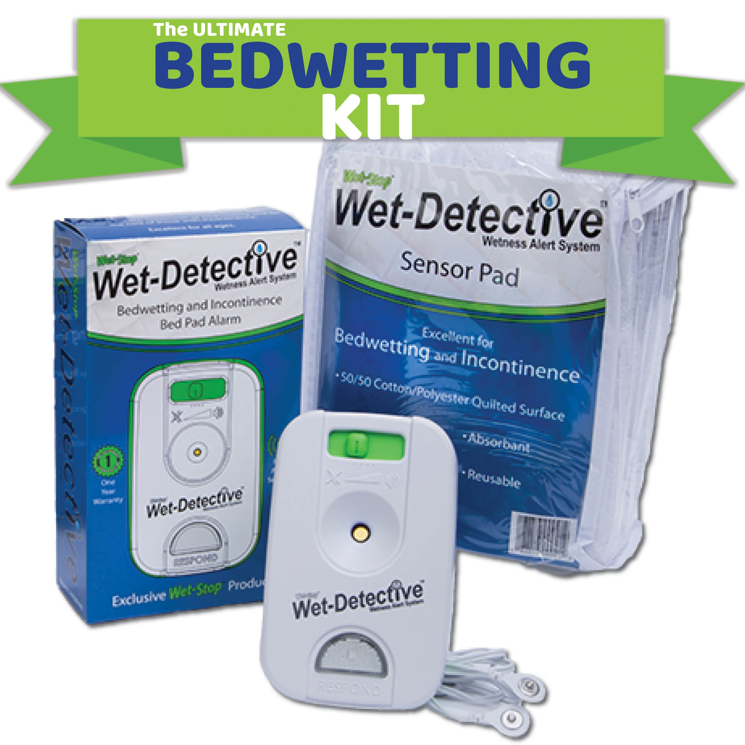 Wet Detective Bedwetting Kit, Incontinence & Bedwetting Alarm System, Includes 1 Sensor Pad by Wet-Stop