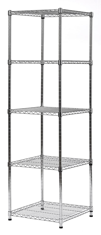 "Muscle Rack Steel Wire Shelf Slim Spacesaver, 59""H x 18""W x 18""H, Chrome, Model:SWS181859-5C"