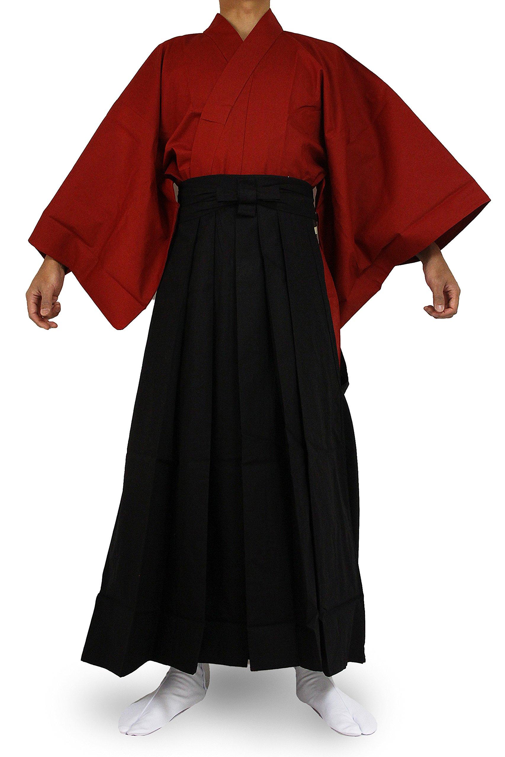 Edoten Japanese Samurai Hakama Uniform RD-BK L