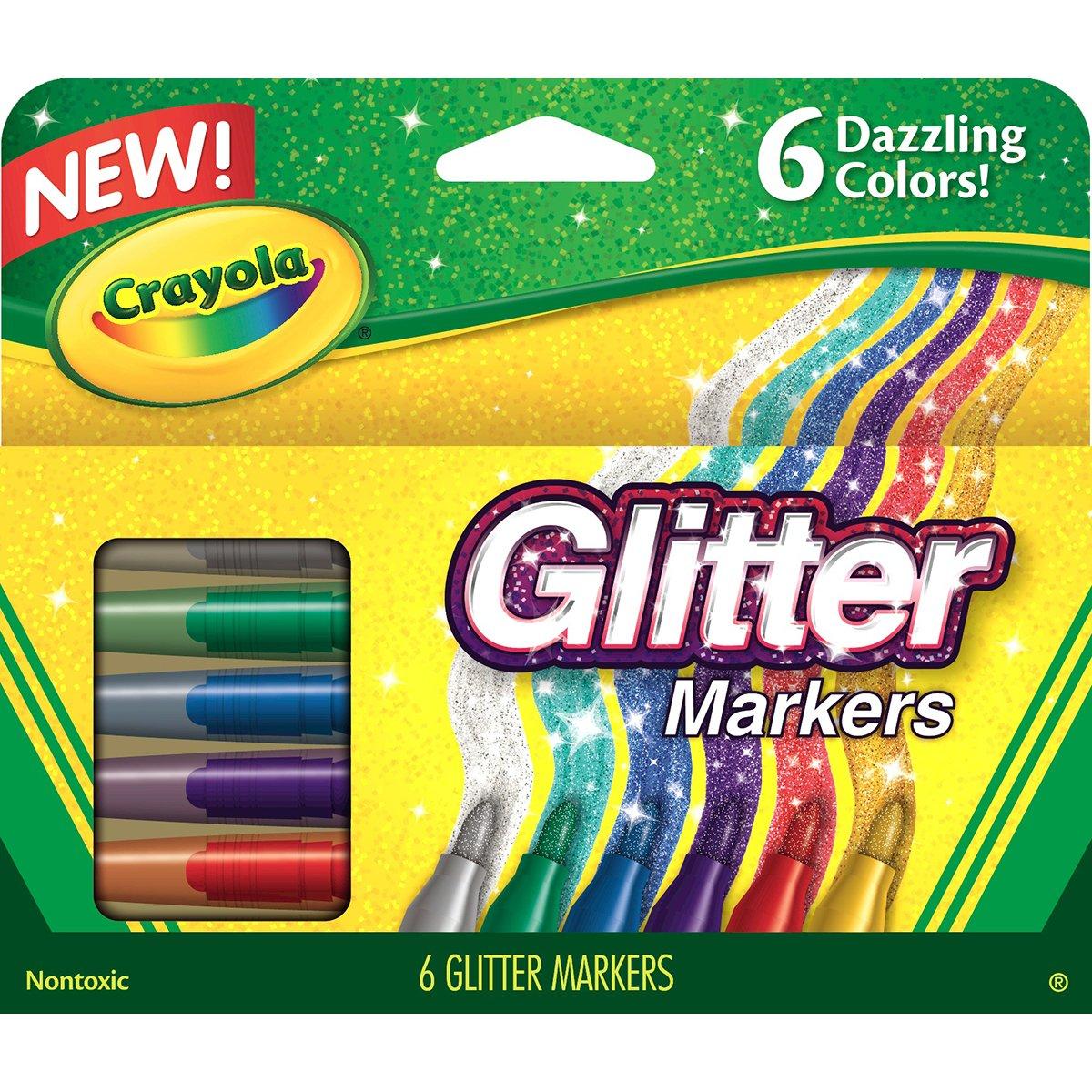 Crayola Glitter marcatori 6/Pkg- 588629