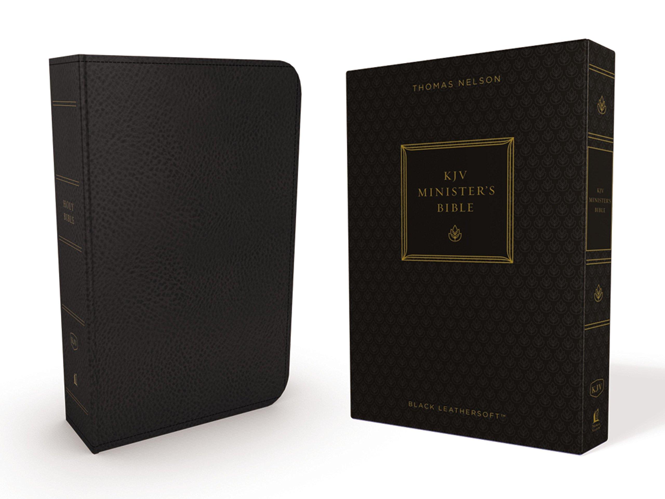 KJV, Minister's Bible, Leathersoft, Black, Comfort Print pdf epub