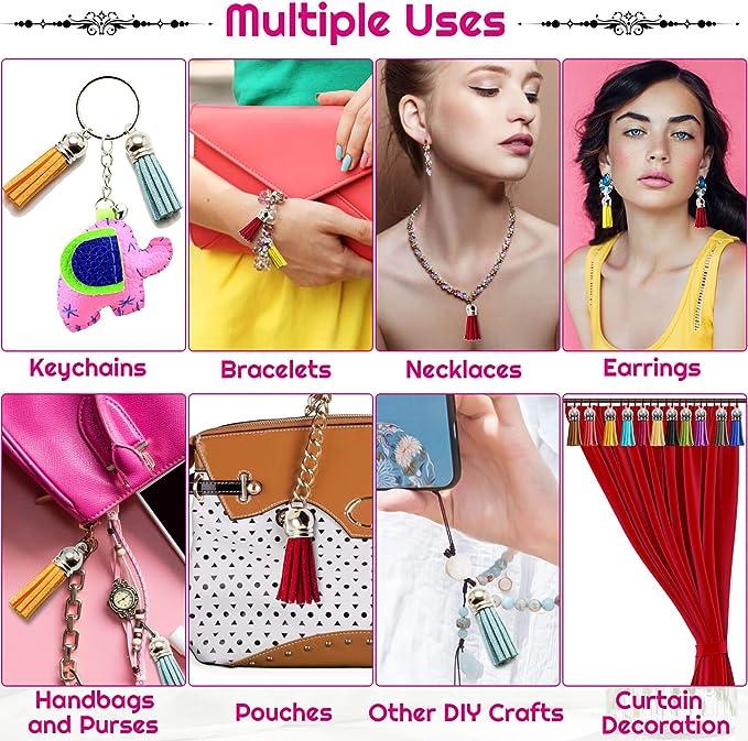 14pcs 6/'/'inch Silk Tassel EarringBraceletKeychainHandbag Tassel Jewelry Making Supplies GD28ST163