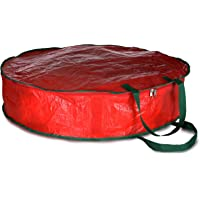 """Christmas Wreath Storage Bag - 30"""" X 7"""" - Durable Tarp Material, Zippered, Reinforced Handle and Easy to Slip The Wreath in and Out. Protect Your Holiday Wreath from Dust, Insects, and Moisture."""