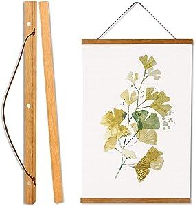 MagneticTeakPoster FrameHanger,Magnet Poster Frame for Posters, Kids Paintings, Photos, Maps, Scrolls, Picture, CanvasArtWorksandArtPrints