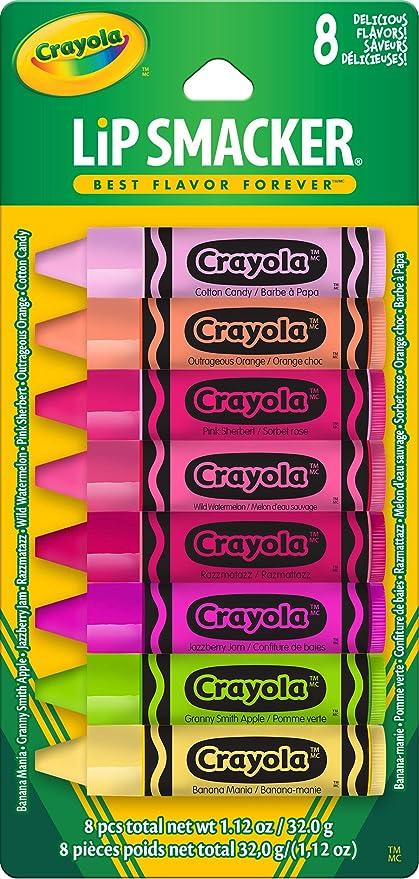 Amazon.com : Lip Smacker Crayola Lip Balm Party Pack, 8 Count : Beauty