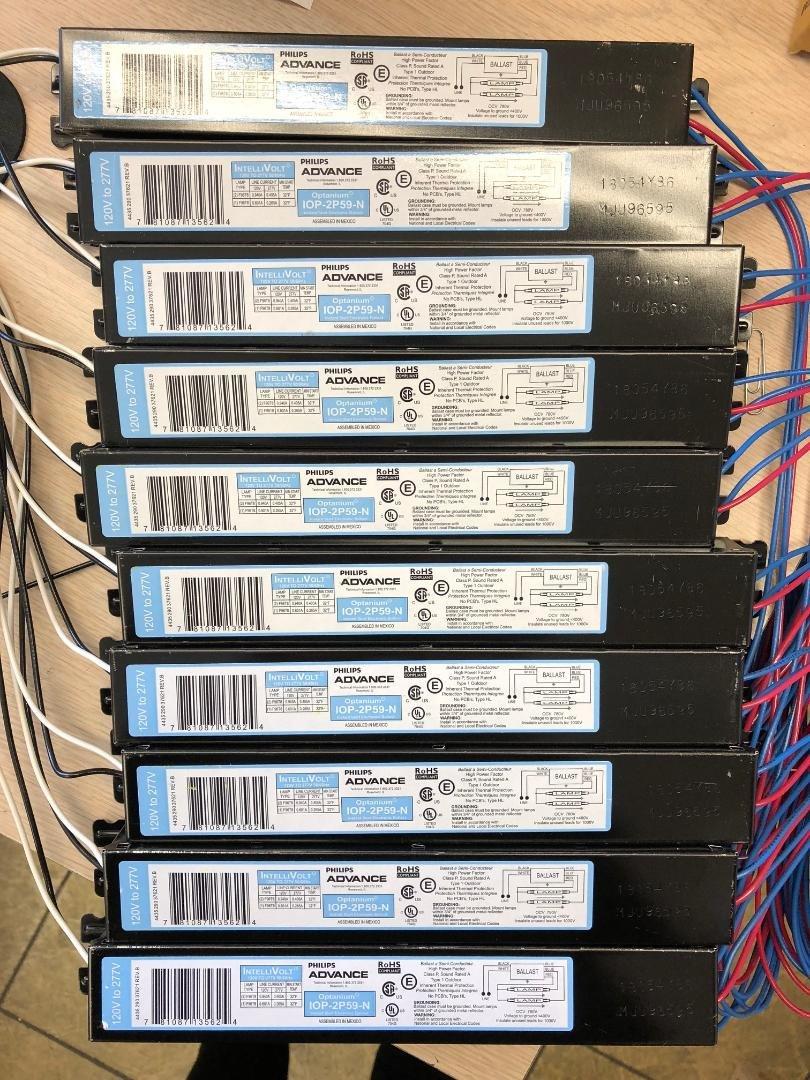 10 Pieces Advance Optanium IOP-2P59-N 2 Lamp F96T8 120/277 Volt Instant Start 0.87 Ballast Factor