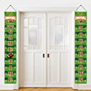 Football Party Banner Touchdown Porch Sign Football Game Day Sports Party Decorations for Football Theme Festival Birthday Ba