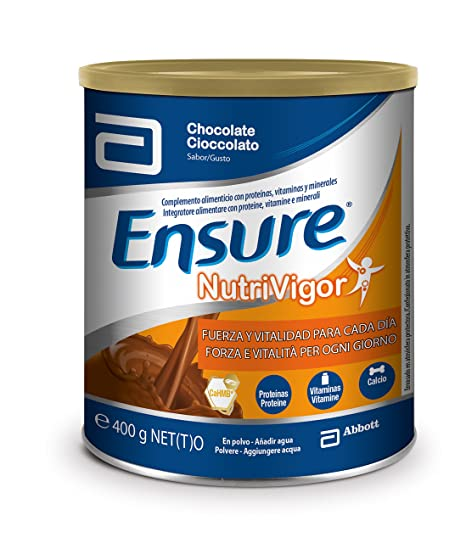 Ensure Nutrivigor sabor chocolate 400g – complemento alimenticio con proteínas, vitaminas, minerales y CaHMB