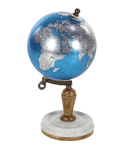 Amazon.com: Deco 79 94475 Blue Marble and Resin Globe, 10