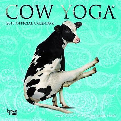 Calendario de 2018 Cow YoGa con un imán para la nevera ...
