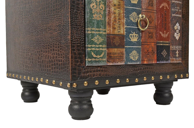 Ts Ideen Hocker Stuhl Vintage Buch Look Polsterhocker Antik Kommode