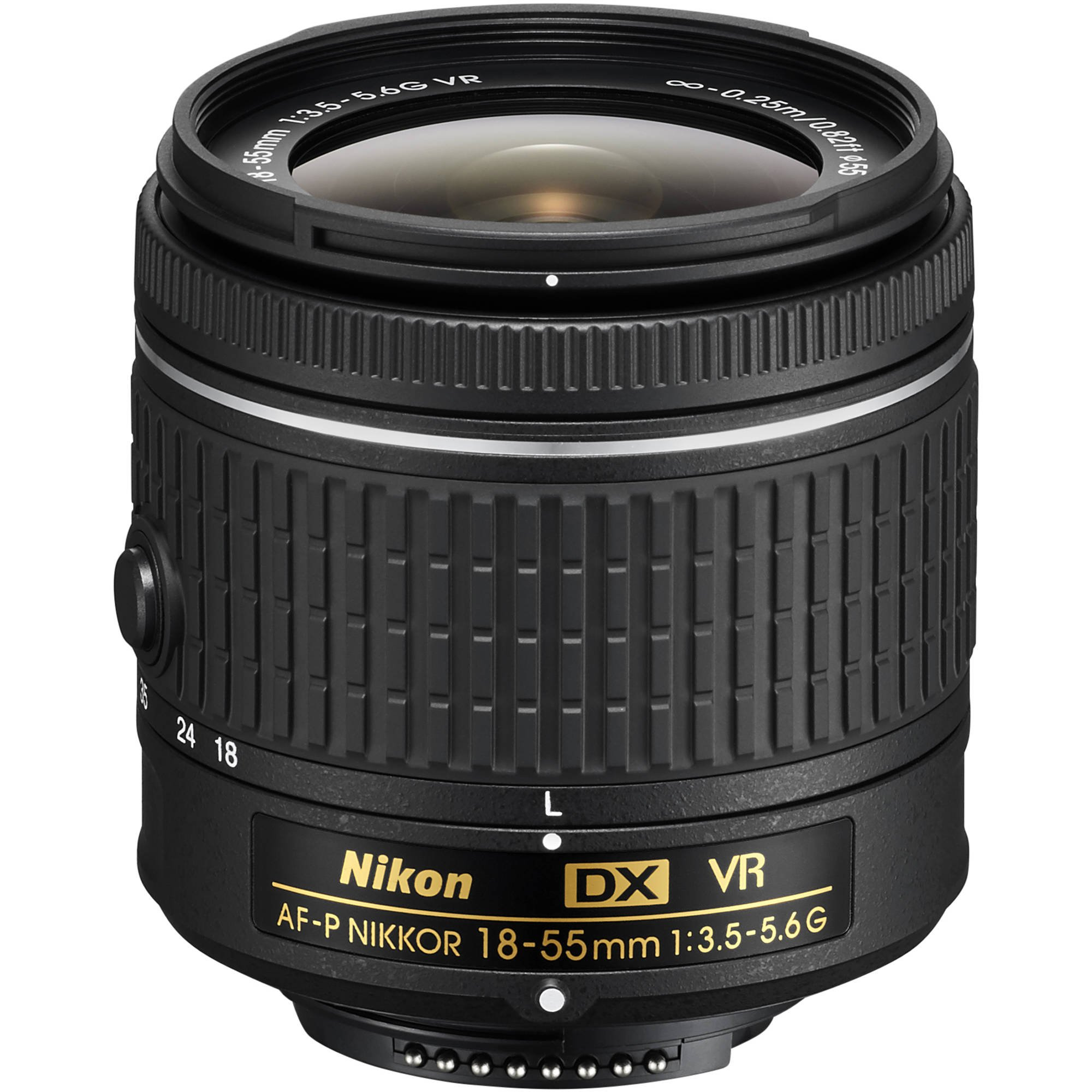 Nikon 18-55mm f/3.5-5.6G VR AF-P DX Zoom-Nikkor Lens - (Certified Refurbished) by Nikon