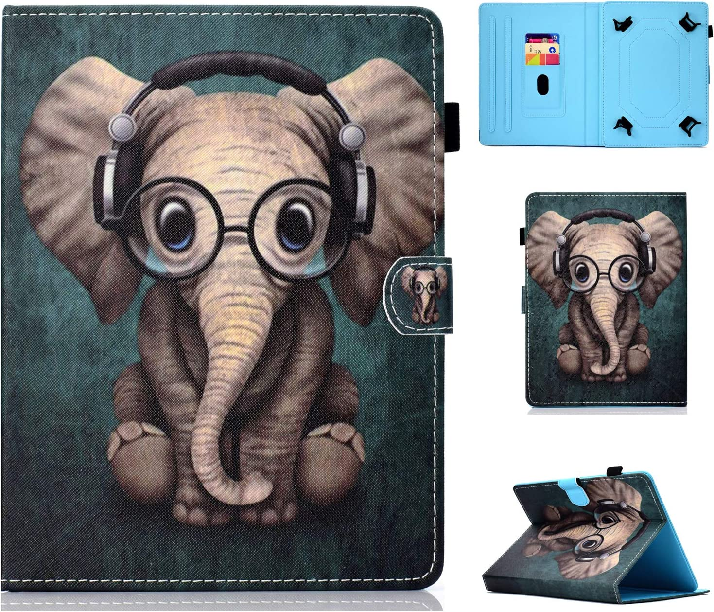Universal Wallet Cover Supporto Si Adatta a Huawei MediaPad t2 7.0 Tablet 7 pollici