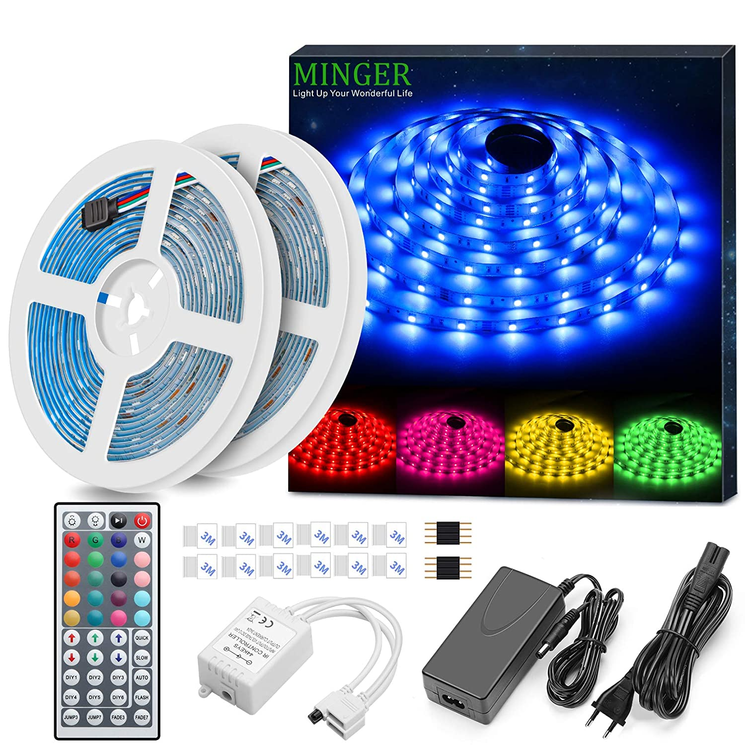 Striscia LED RGB 10M, Minger