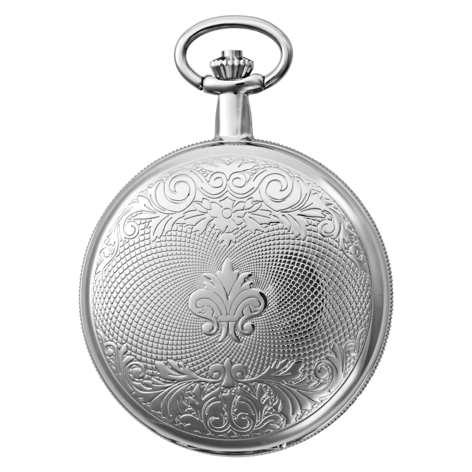 Gotham Men's Silver-Tone Mechanical Pocket Watch with Desktop Stand # GWC14051S-ST by Gotham (Image #5)