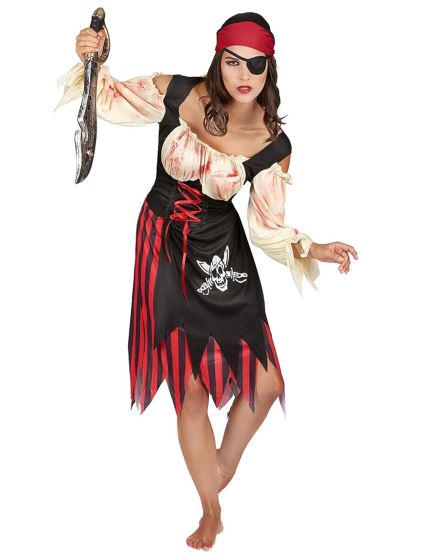 Disfraz de pirata zombie adulto Halloween mujer Talla única ...
