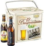 """Kalea Spezialitäten""""Bier Box"""" ausgewählte Biere verpackt in einer hochwertigen Metallbox (12 x 0,33 l)"""