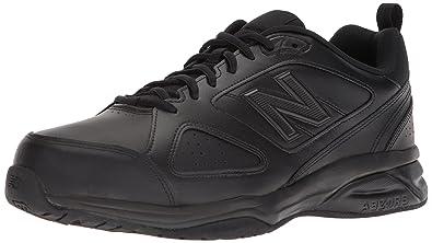 c4c6d017159de New Balance Men's MX623v3 Casual Comfort Training Shoe, Black Leather, ...