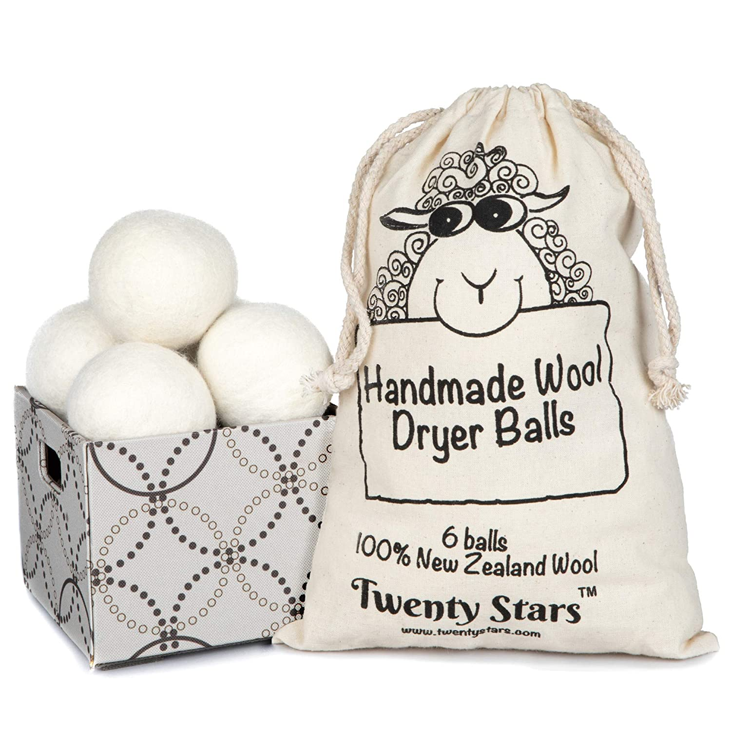 Image of Wool Dryer Balls, Pack of 6
