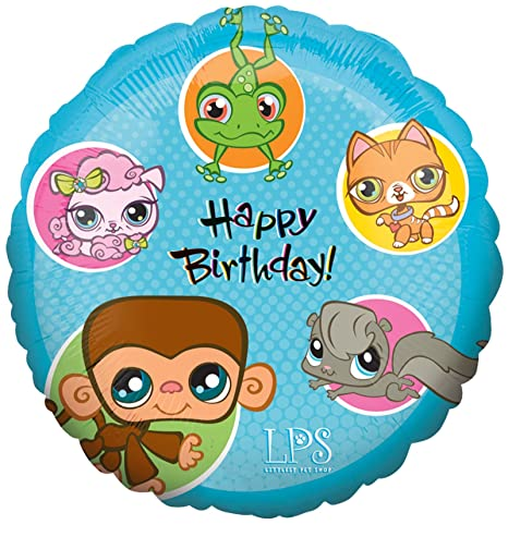 Anagram 27401 Littlest Pet Shop Girl Supershape Foil Balloon Multicolored 34