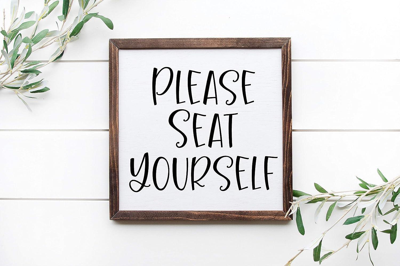 Unknow Señal enmarcada con Texto en inglés Please Seat Yourself de ...
