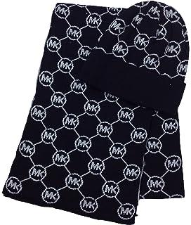 Amazon.com  Michael Kors Women s 2 Piece Scarf and Hat Set Blk wht ... 3914f39fc3f1