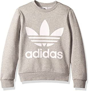58cee1b28544 Amazon.com  adidas Big Girls  Originals Trefoil Crew Sweatshirt ...