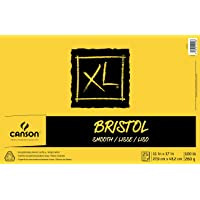 Canson XL Series Bristol Pad, Heavyweight Paper for Ink, Marker or Pencil, Smooth Finish, Fold Over, 100 Pound, 11 x 17…