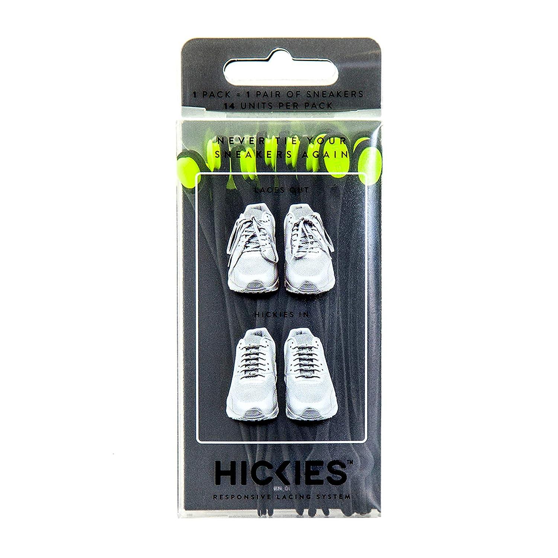 Hickies Cordones Elásticos No-Tie Originals' (14 Unidades, Funciona con todas las zapatillas) PLSBH_SOLID_730
