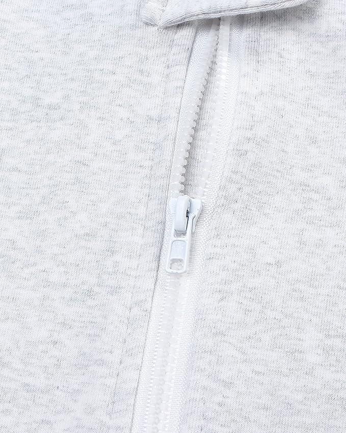 Amazon.com: Kidsform Baby Cotton Romper Boys Girls Bodysuit Zip Up Pajamas Long Sleeve Jumpsuit Footless Onesie: Clothing