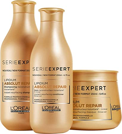 Loreal Serie Expert Absolut Repair Lipidium Set - Champú 300 ...