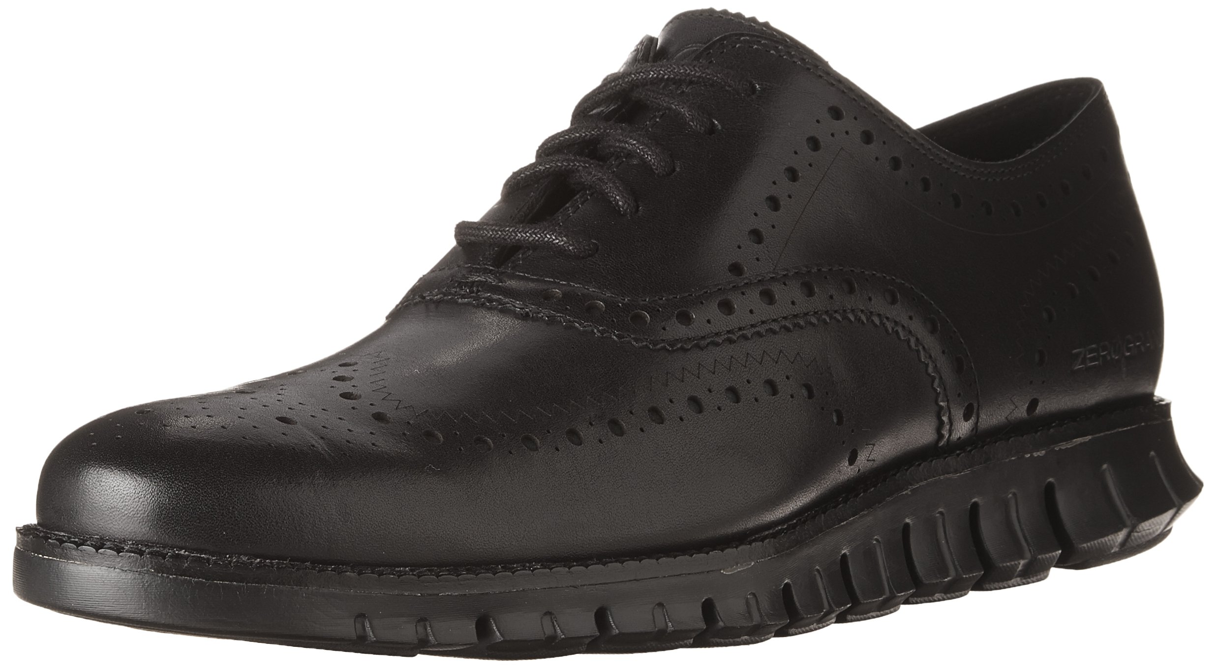 Cole Haan Men's Zerogrand Wing OX Leather Oxford, Closed Hole/Black, 11.5 Wide US
