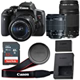 Canon EOS Rebel T6i 24.2 MP CMOS Digital SLR Camera with 3.0-Inch LCD with EF-S 18-55mm f/3.5-5.6 IS STM Lens and EF 75-300mm f/4-5.6 III Lens - Wi-Fi Enabled (Certified Refurbished)
