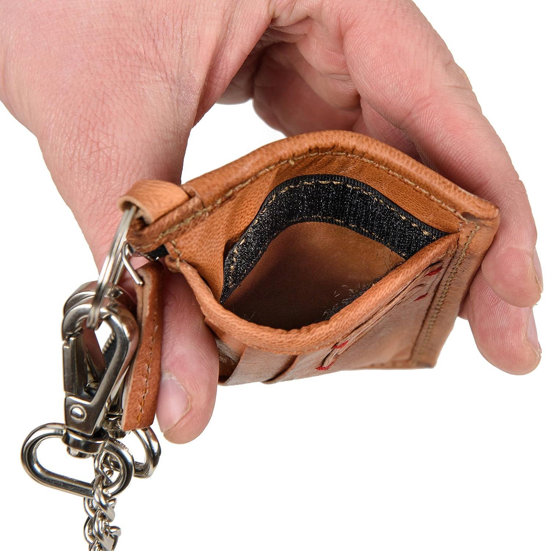e718b96fbd682 Geldbörse Leder BERLINER BAGS mit Kette Portemonnaie Geldbeutel  Portemonnaie Wallet Vintage Braun Klein  Amazon.de  Koffer