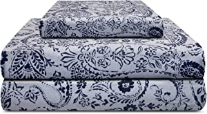 TRIDENT Twin Sheets Set Bed Sheets 3-Piece Set Bedding Sheets and Pillowcases -Soft & Smooth Deep Pocket Twin Sheet Sets -Feather Tales Collection-Cotton-Percale Twin Size Sheets -Agatha