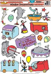 Eureka Dr. Seuss If I Ran The Circus Window Clings (836077)