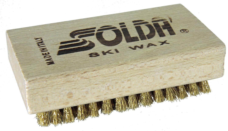 Sold/à SPAZZOLA PIANA in Ottone 110x65mm
