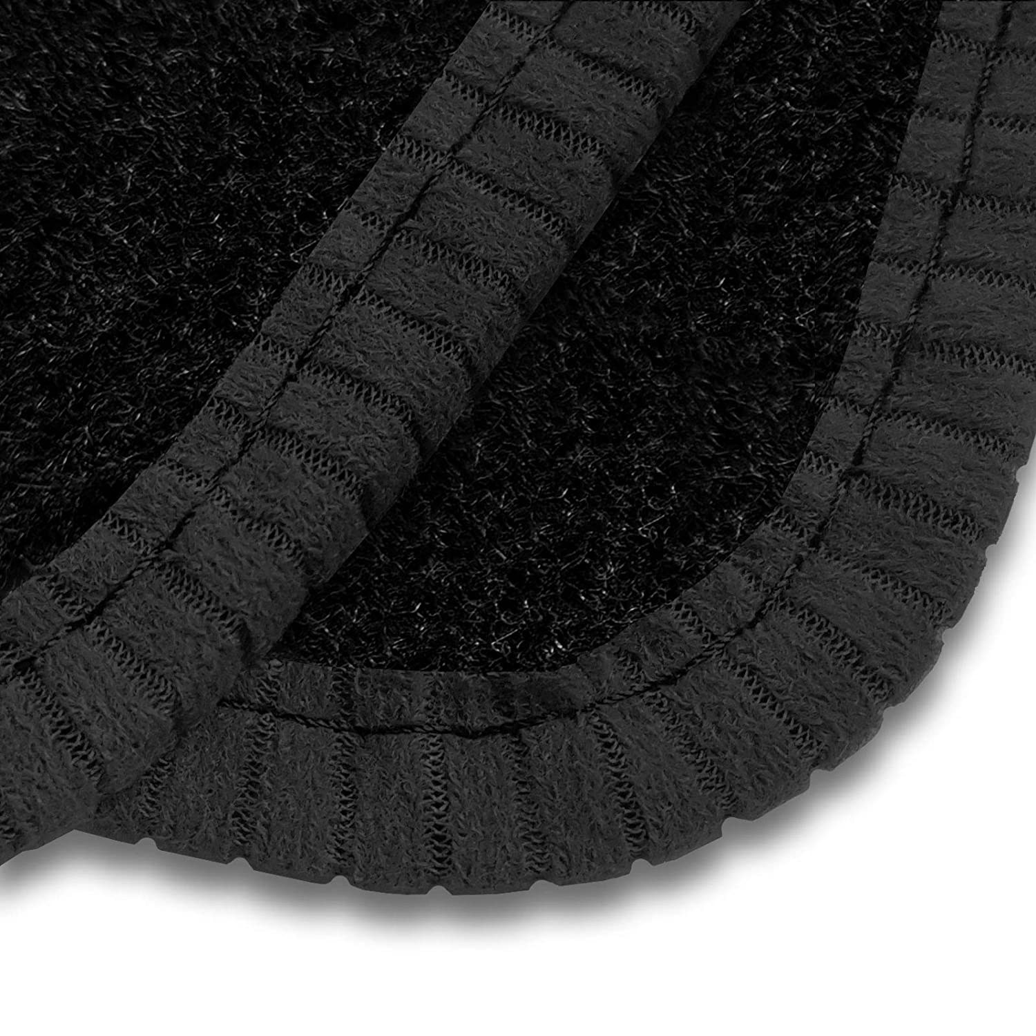 2013+ Car Mats to Fit Octavia Black Tailored Car Mats with Black Trim /& Black Double Thickness Rectangle Heel Pad