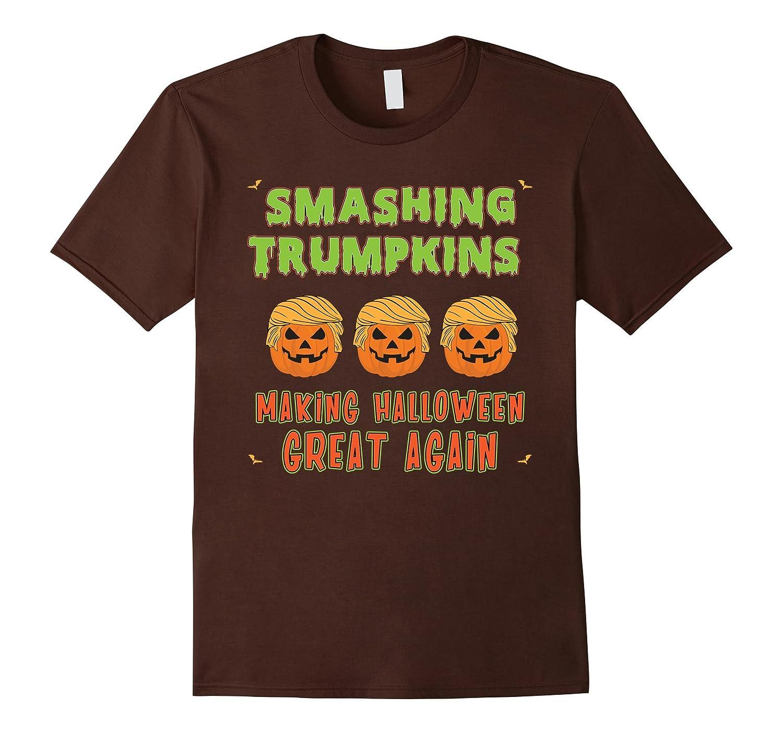 Smashing Trumpkins T-Shirt Funny Pumpkin Faux