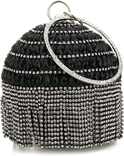 New Womens Ball Round Shape Wedding Bridal Prom Party Evening Clutch Crystal Bag