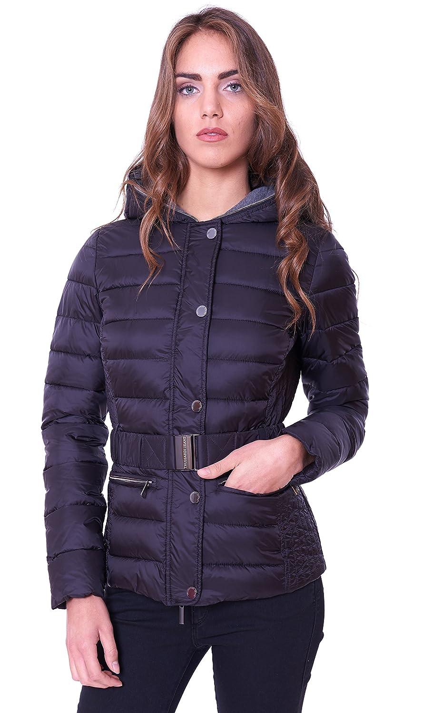 De Jeans Mujer Trussardi Abrigo Art Para Negro 56s00042 Plumas aqxwxS