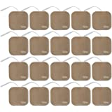 TENS Wired Electrodes Compatible with TENS 7000, Premium Replacement Pads for TENS Units, Discount TENS Brand (2in x 2in…