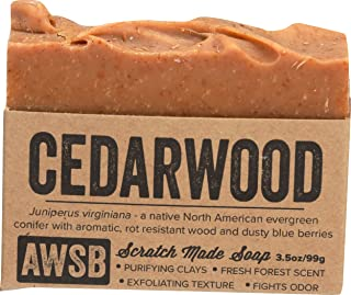 product image for Cedarwood Bar Soap with Red Clay, Vegan, All Natural with Organic Ingredients, Handmade by A Wild Soap Bar