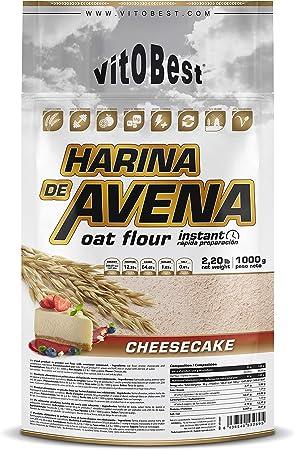 Harina de Avena Sabores Variados - Suplementos Alimentación y Suplementos Deportivos - Vitobest (Tarta de Manzana (Apple Pie), 1 Kg)