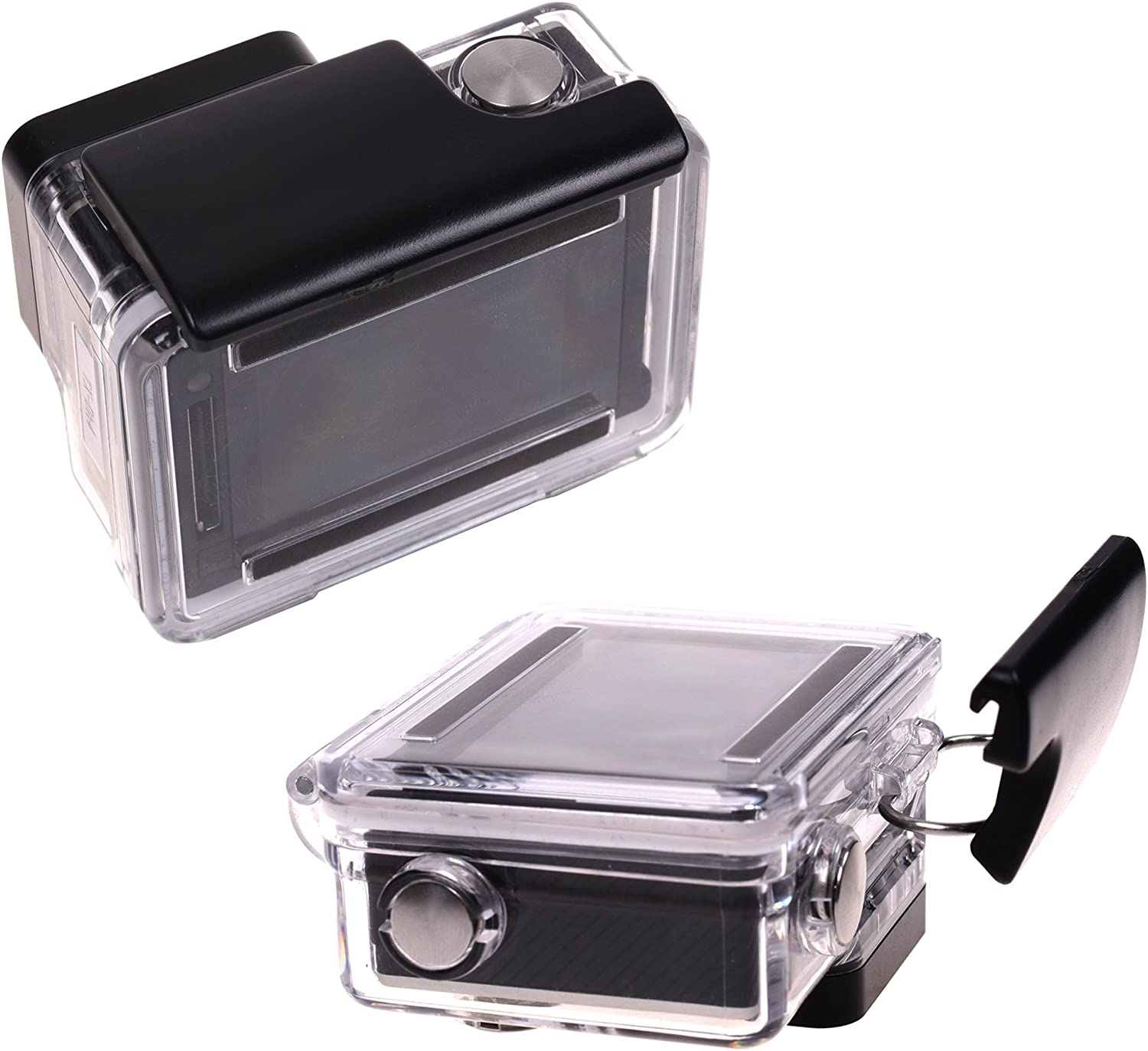 HD Cameras COSMOS 2 PCS Waterproof Housing Latch Replacement Rear Snap Buckle Lock Compatible with Gopro Hero4 Hero3