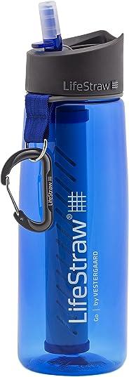 LifeStraw Go Botella de Filtro de Agua con Pajita de Filtro integrada de 2 etapas para Senderismo, mochilero y Viajes
