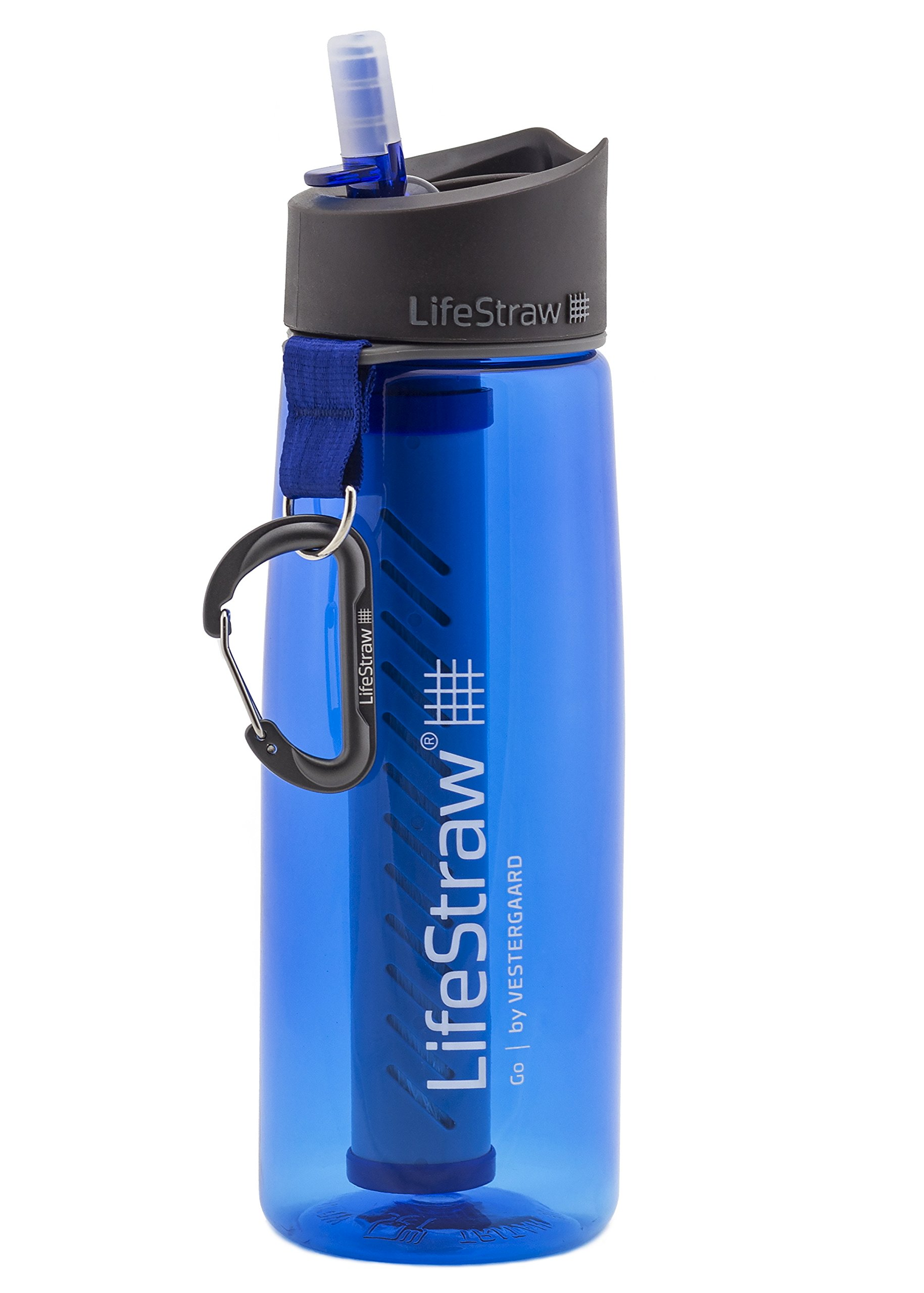 LifeStraw Go Water Filter Bottle with 2-Stage Integrated Filter Straw for Hiking, Backpacking, and Travel, Blue by LifeStraw