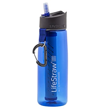 LifeStraw Go Water Filter Bottles 2-Stage Integrated Filter Straw Hiking, Backpacking Travel