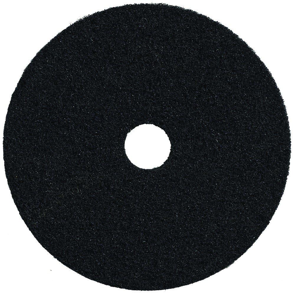 Bear-Tex 66261052005 High Productivity Floor Maintenance Stripping Pad, Aluminum Oxide, 20'' Diameter x 1'' Thick, 3-1/4'' Arbor, Fine, Black (Case of 5) by Bear-Tex